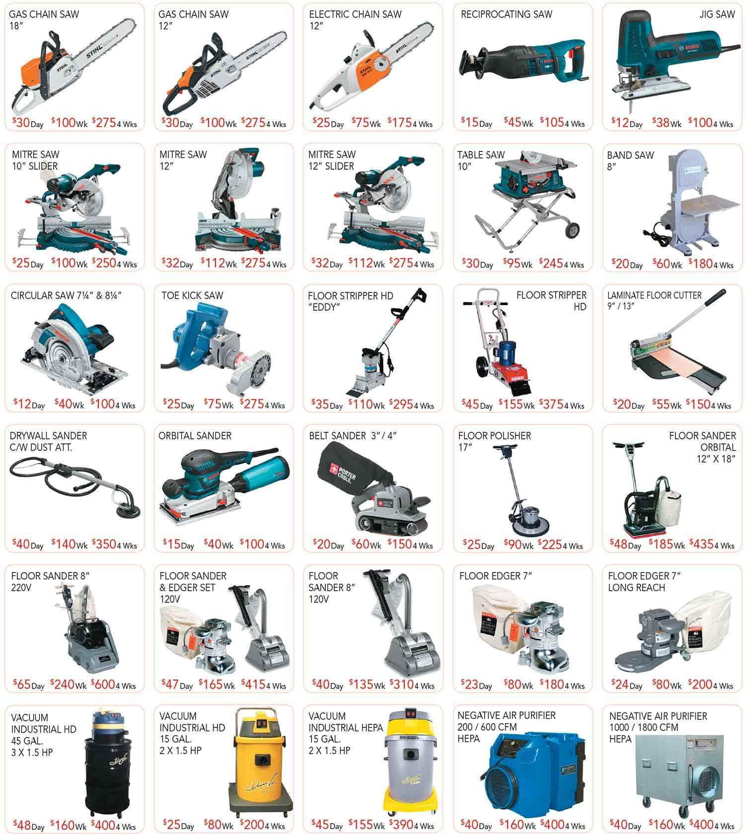 Rent A Saw Montreal Wood Carpentry Location Ferrento