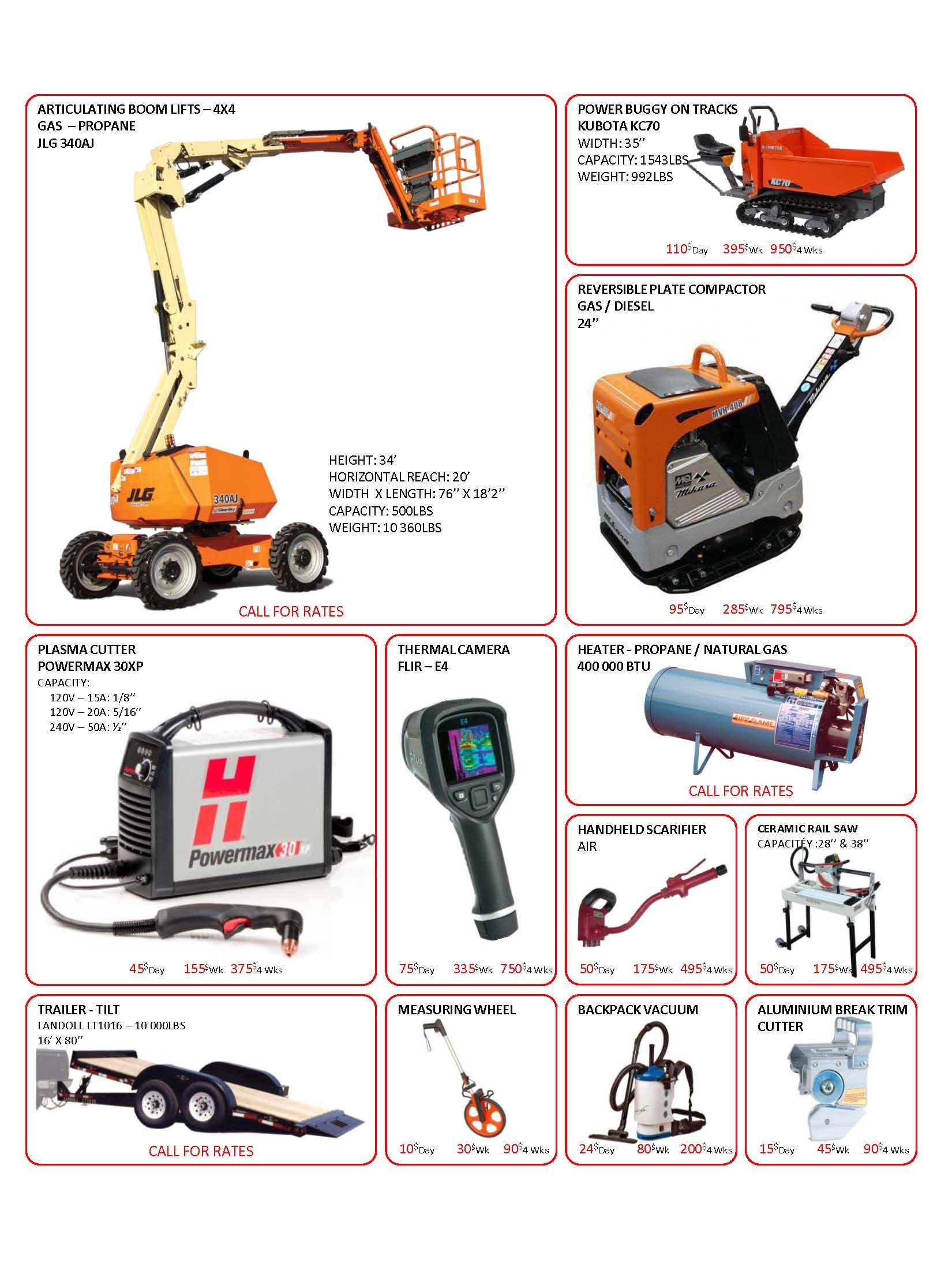 catalogue new tools